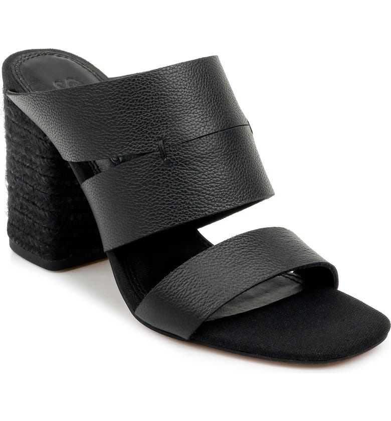 SPLENDID Matty Slide Sandal, Main, color, BLACK LEATHER