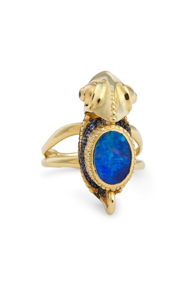 Daniela Villegas Jeanne Baret Opal, Sapphire & Emerald Ring ...