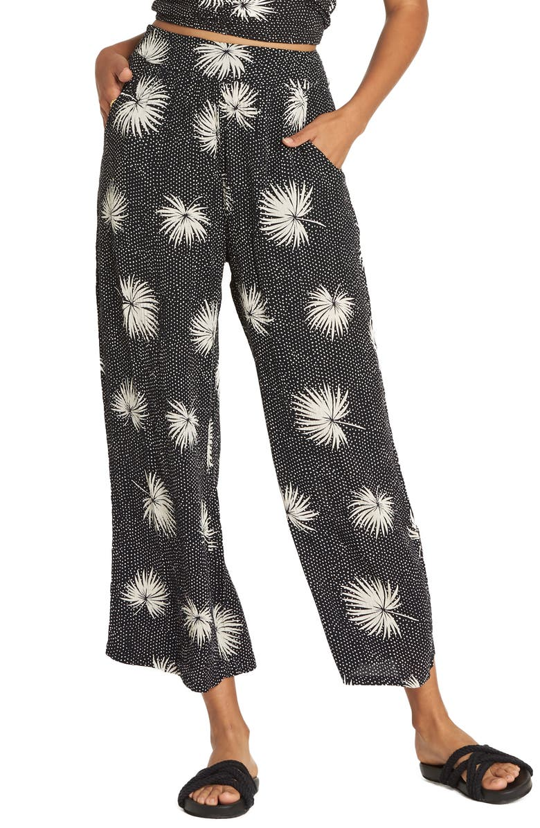 45fa73c312 Cut Through Print Wide Leg Crop Pants, Main, color, BLACK WHITE