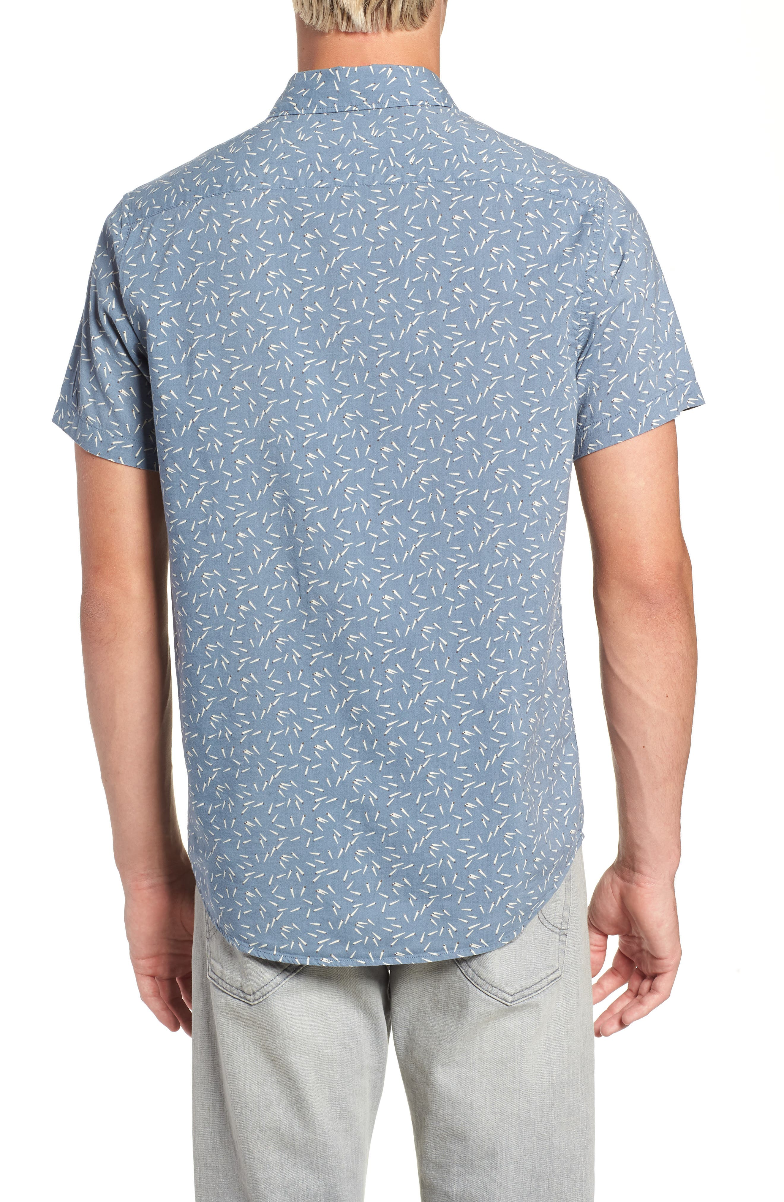 ,                             Pins & Needles Slim Fit Woven Shirt,                             Alternate thumbnail 8, color,                             434