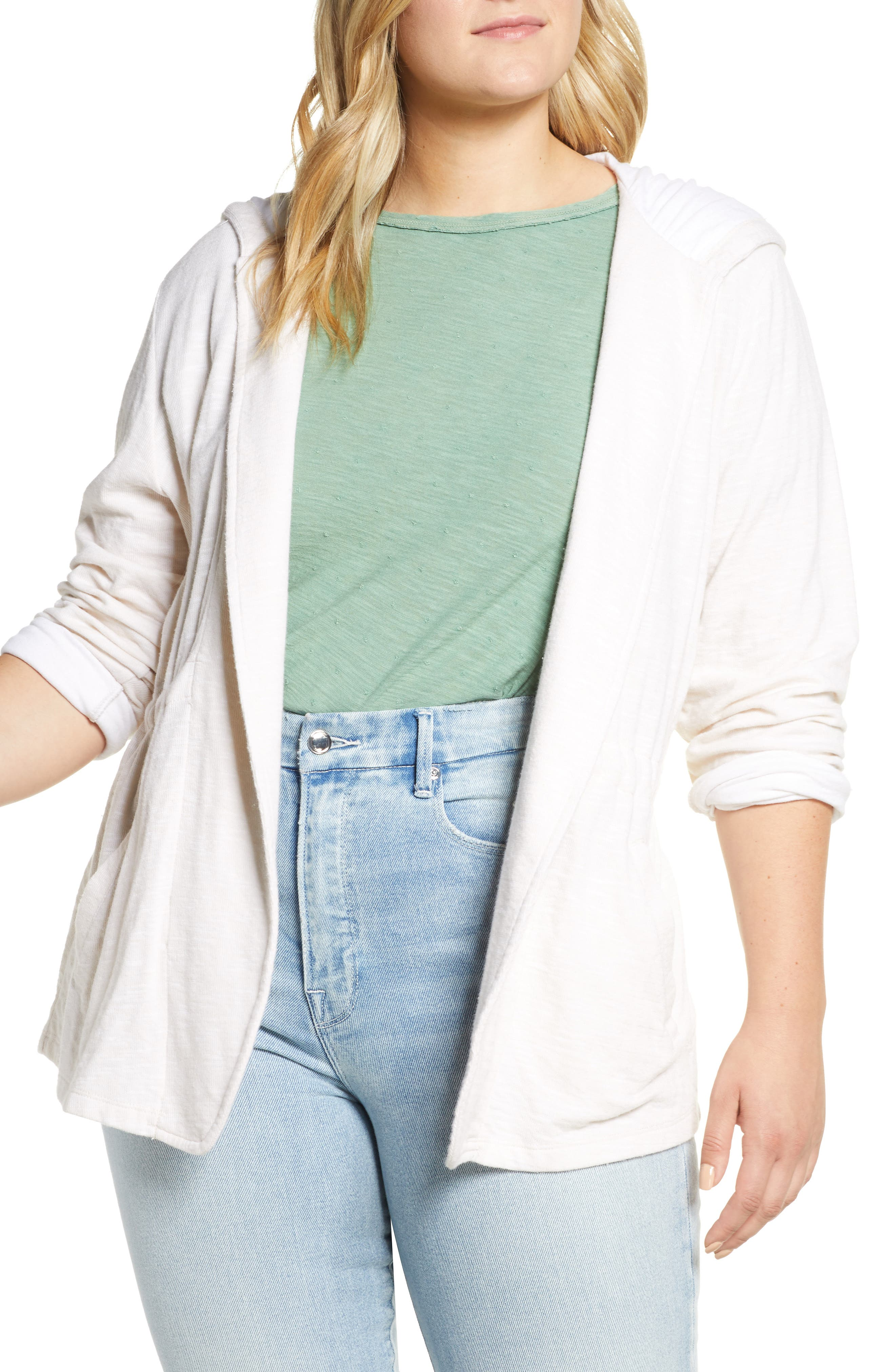 ,                             Open Front Hooded Cardigan,                             Alternate thumbnail 18, color,                             270