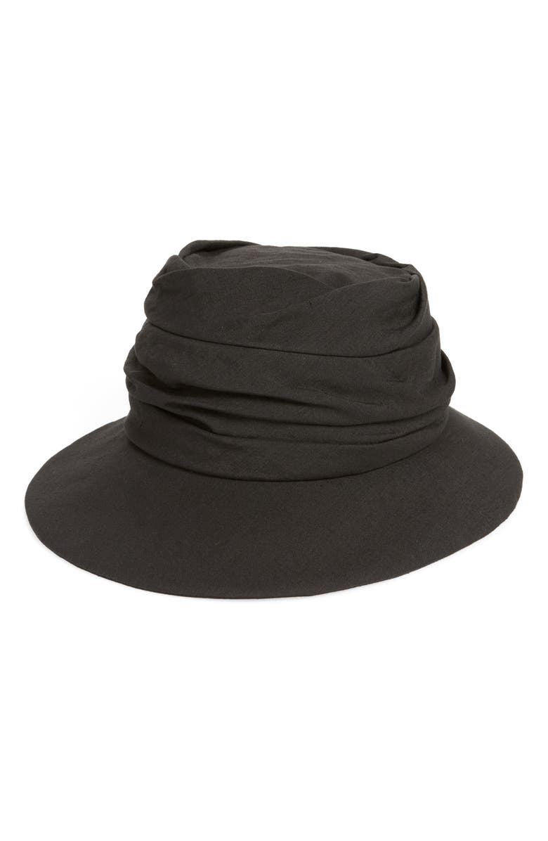 Y'S BY YOHJI YAMAMOTO Gathered Cloche, Main, color, 001