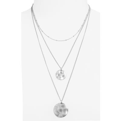 Bp. Layered Double Disc Necklace