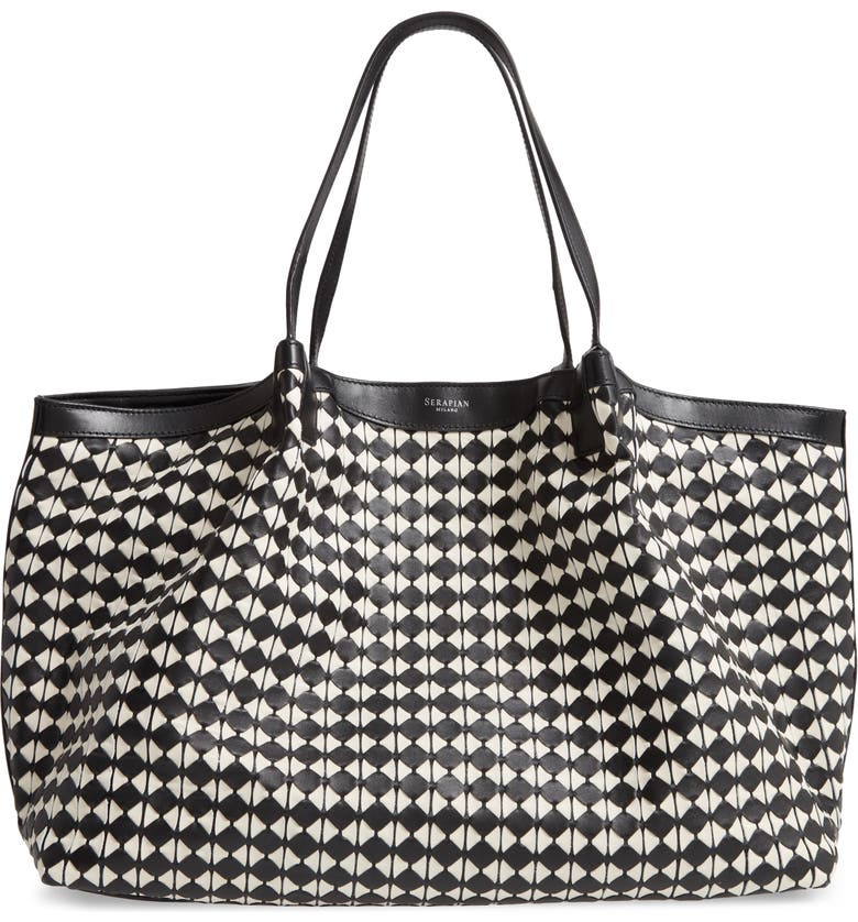 SERAPIAN MILANO Lorelei Mosaico Handbag, Main, color, 001