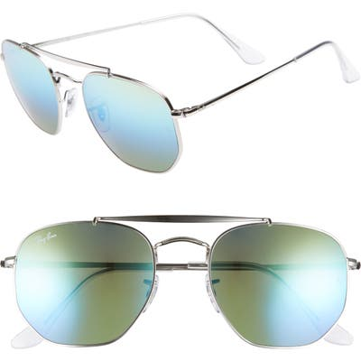 Ray-Ban Marshal 5m Aviator Sunglasses - Blue/ Green