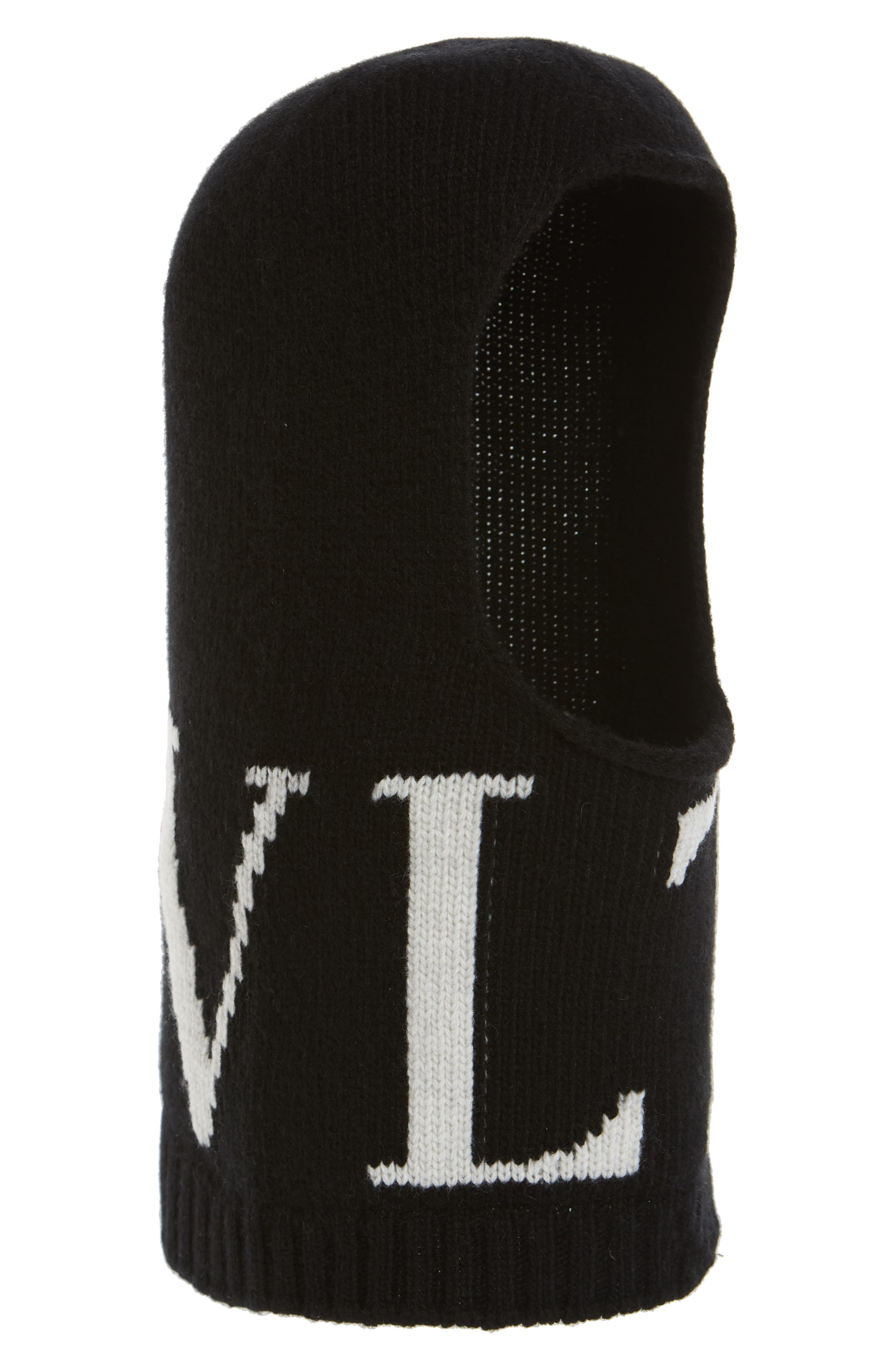 Valentino Vltn Wool & Cashmere Balaclava - Black