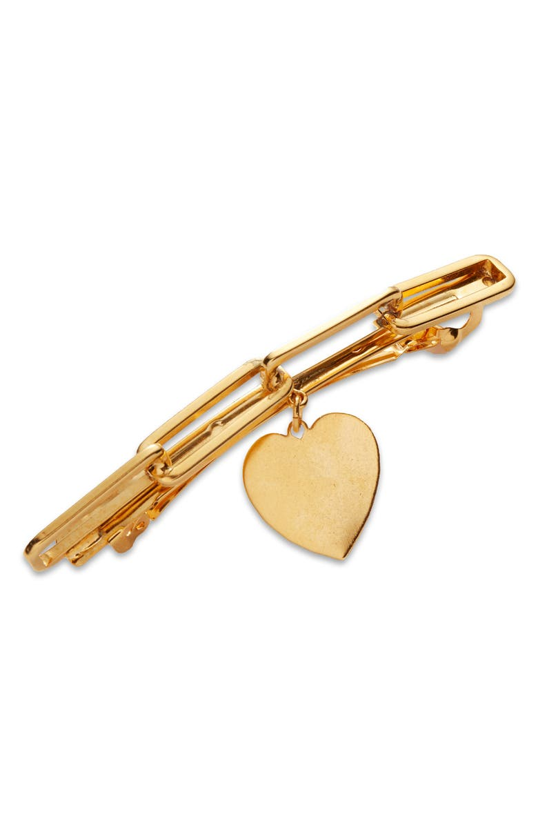 LELET NY Heart Charm Chain Link Barrette, Main, color, 710