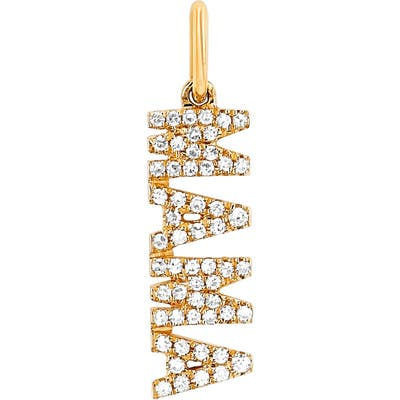 Ef Collection Diamond Mama Pendant Charm