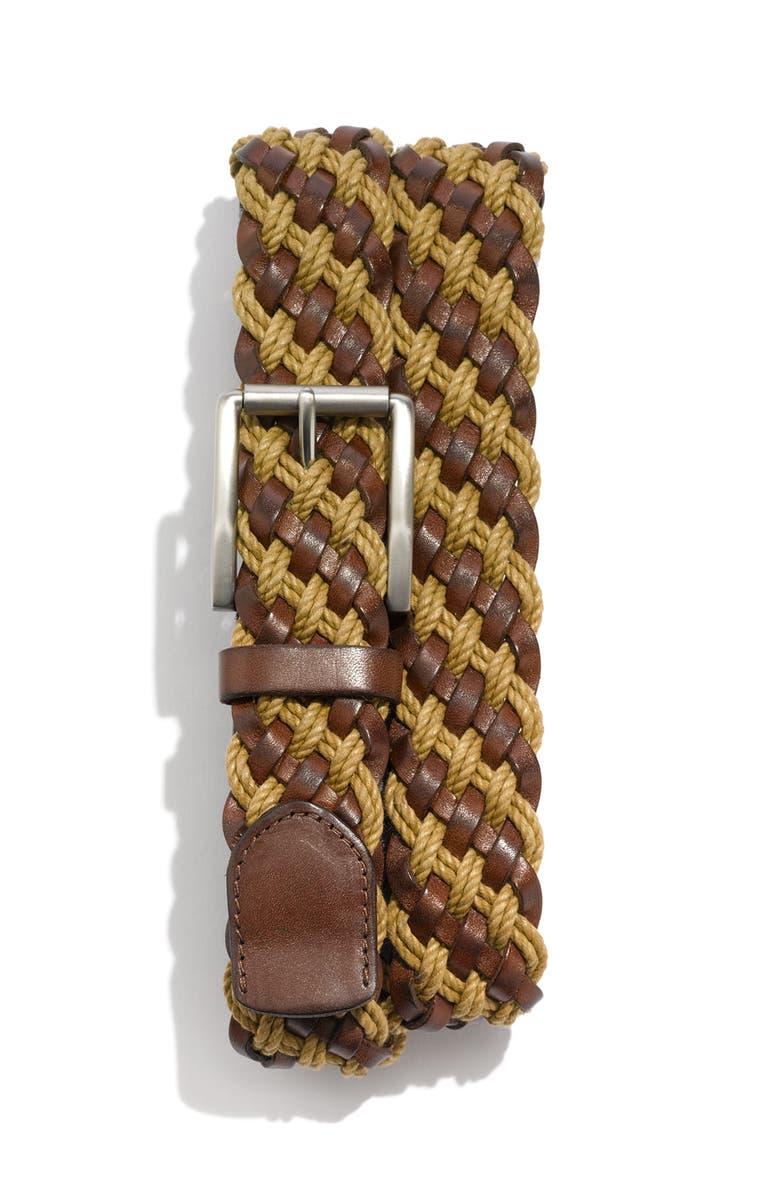 TRAFALGAR 'Somerset' Leather Belt, Main, color, 203