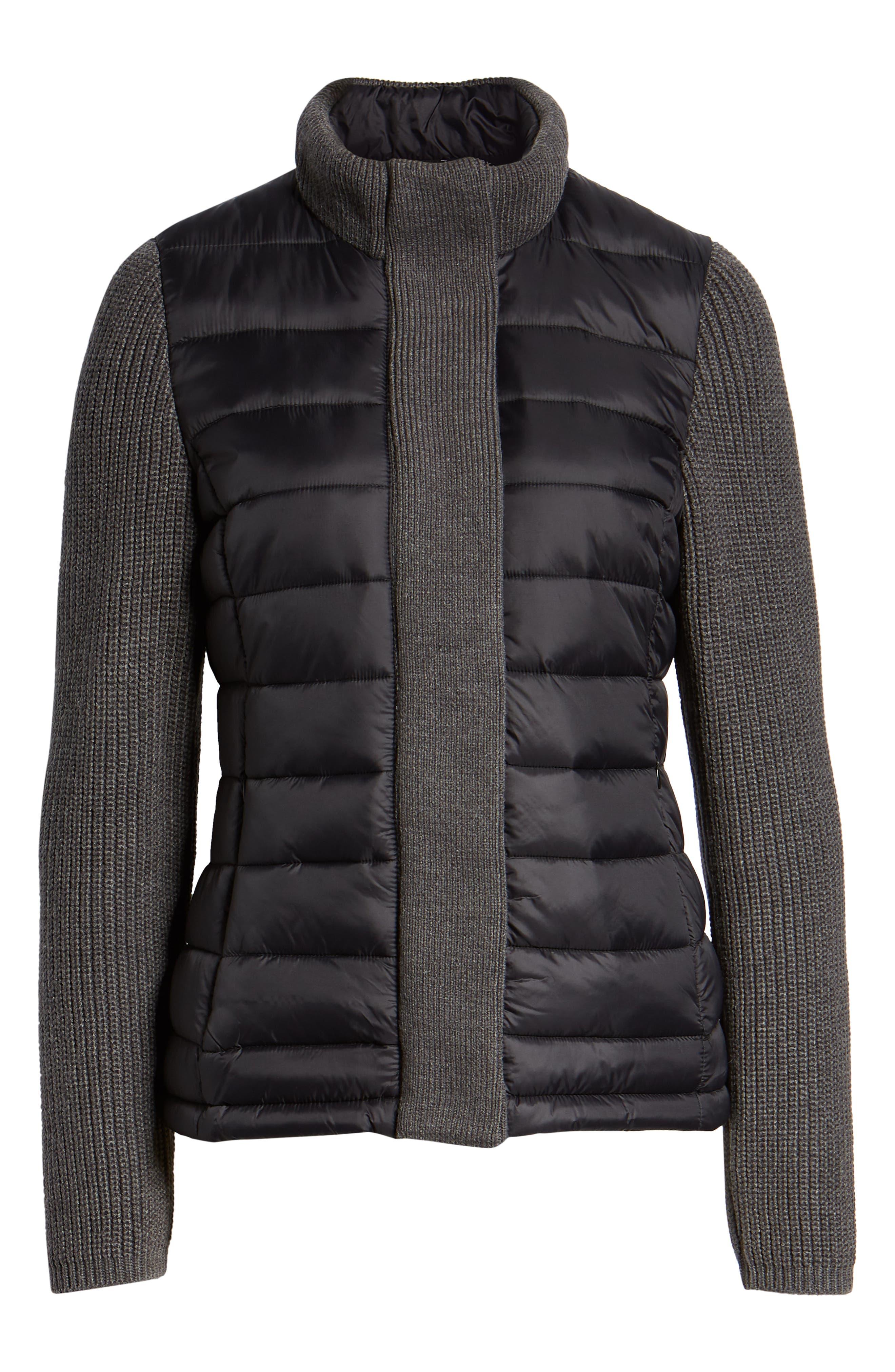 ,                             Mark New York Packable Knit Trim Puffer Jacket,                             Alternate thumbnail 7, color,                             008