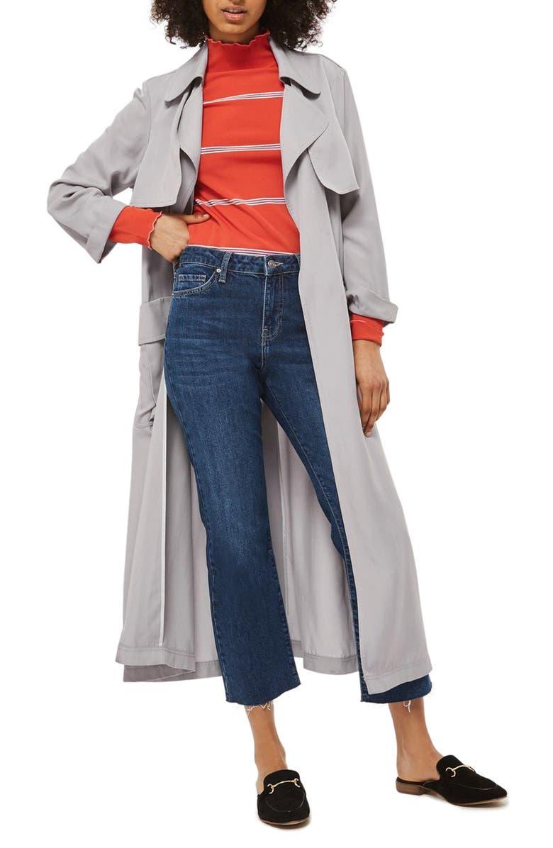 TOPSHOP Utility Pocket Duster Coat, Main, color, 050