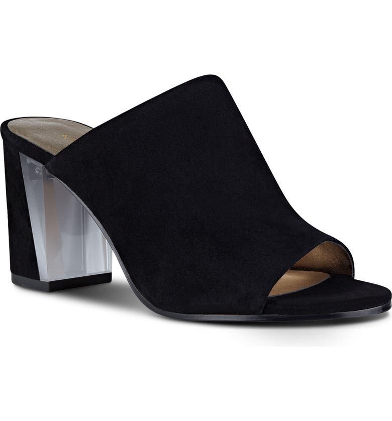 NINE WEST Gemily Block Heel Slide Sandal, Main, color, 001