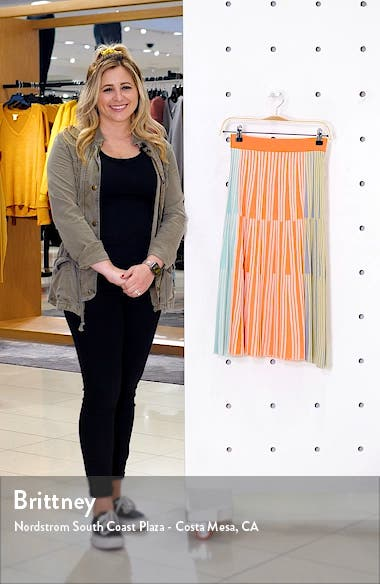 Colorblock Ribbed Midi Skirt, sales video thumbnail