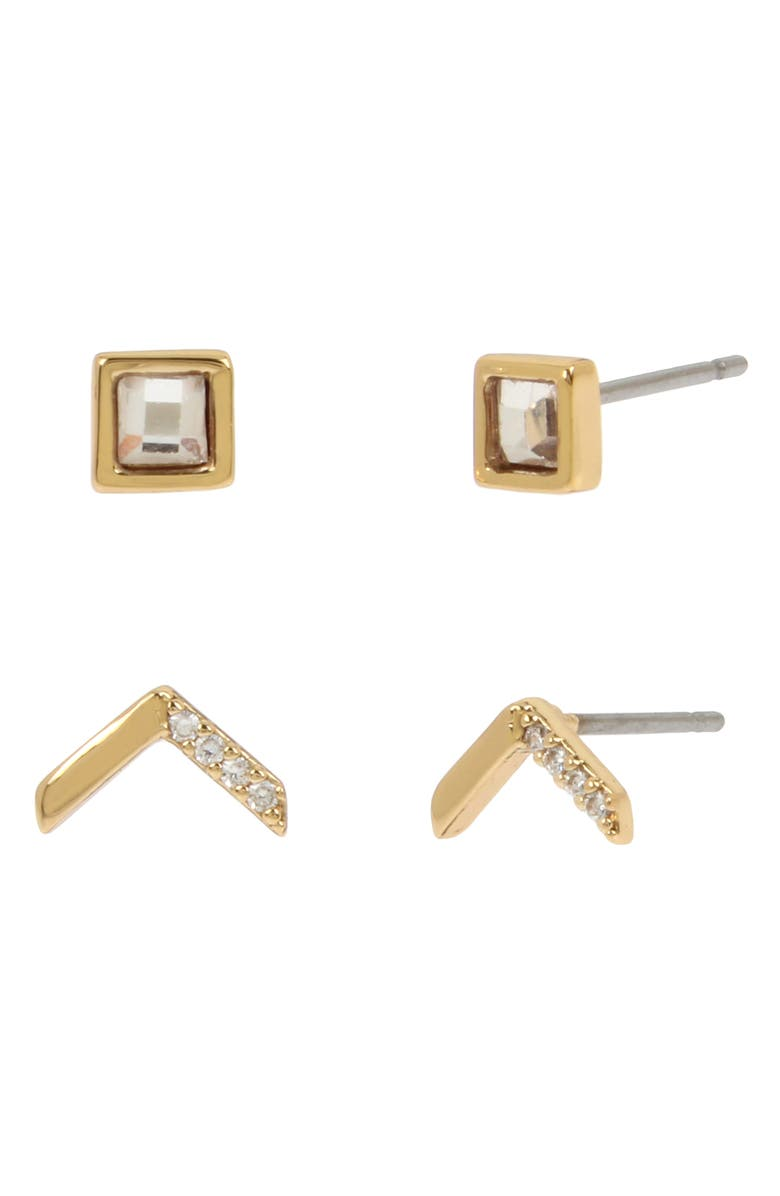 ALLSAINTS 2-Pack Arrow Stud Earrings Set, Main, color, 710