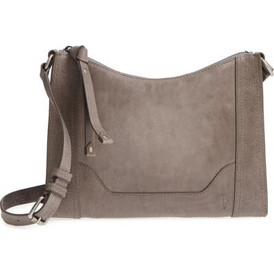Frye Melissa Leather Crossbody Bag - Grey