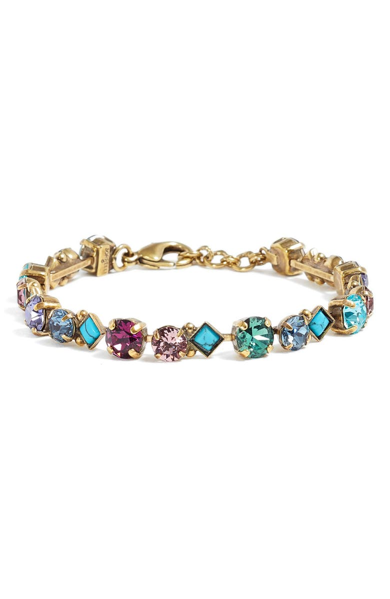 SORRELLI Darling Tennis Bracelet, Main, color, MULTI
