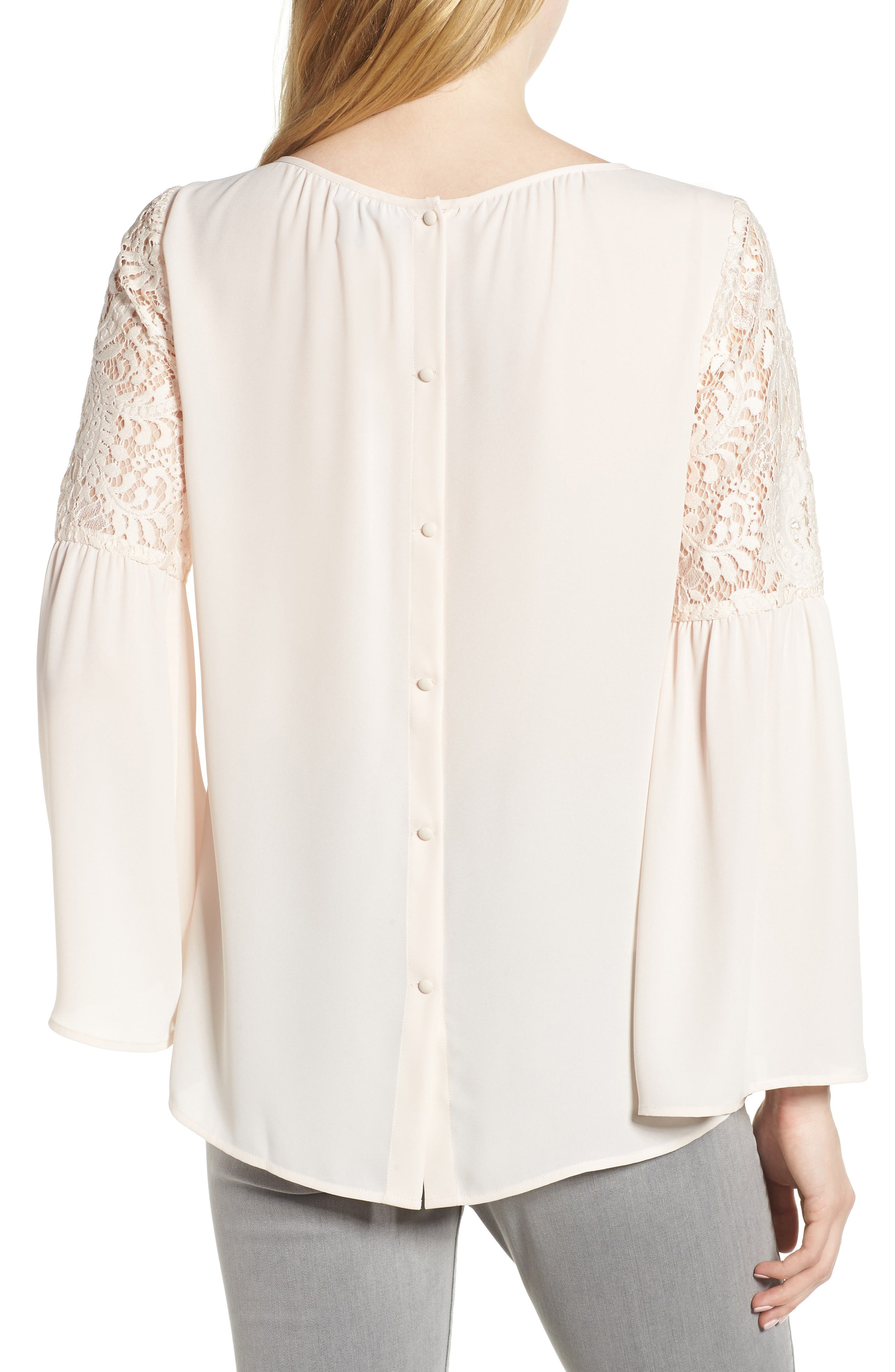 ,                             Lace Bell Sleeve Top,                             Alternate thumbnail 33, color,                             681