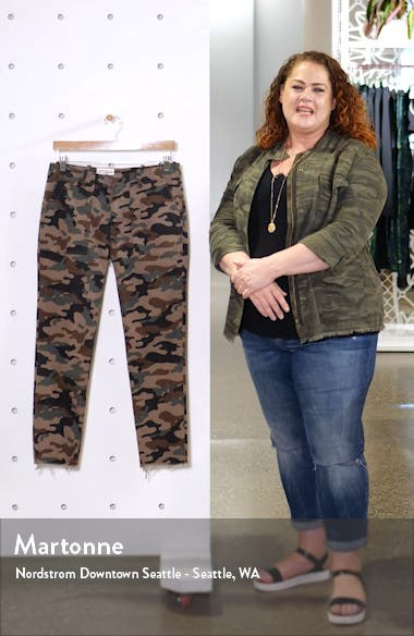 Jenna Camo Print Crop Pants, sales video thumbnail