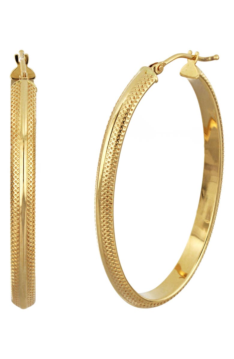 BONY LEVY 14K Gold Hoops, Main, color, YELLOW GOLD