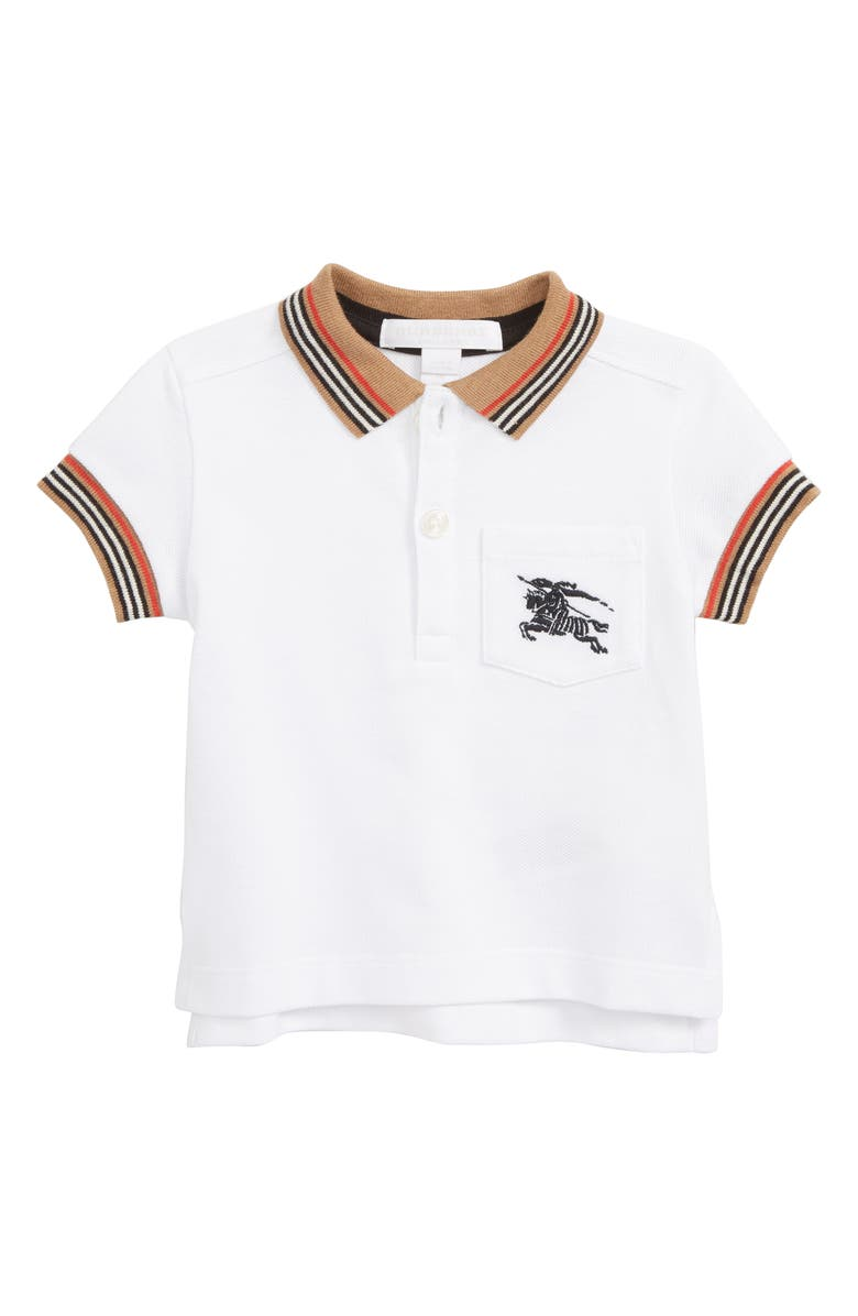 BURBERRY Noel Polo, Main, color, WHITE