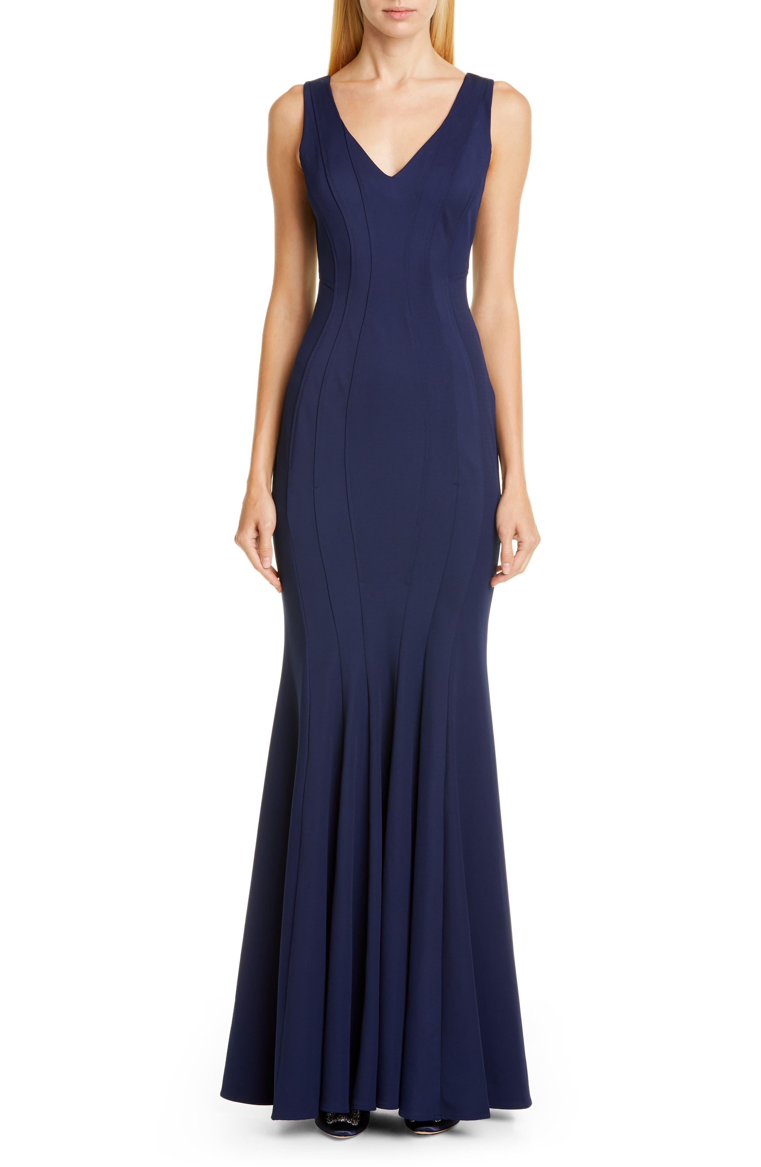 Zac Zac Posen Ronnie Mermaid Gown, Blue