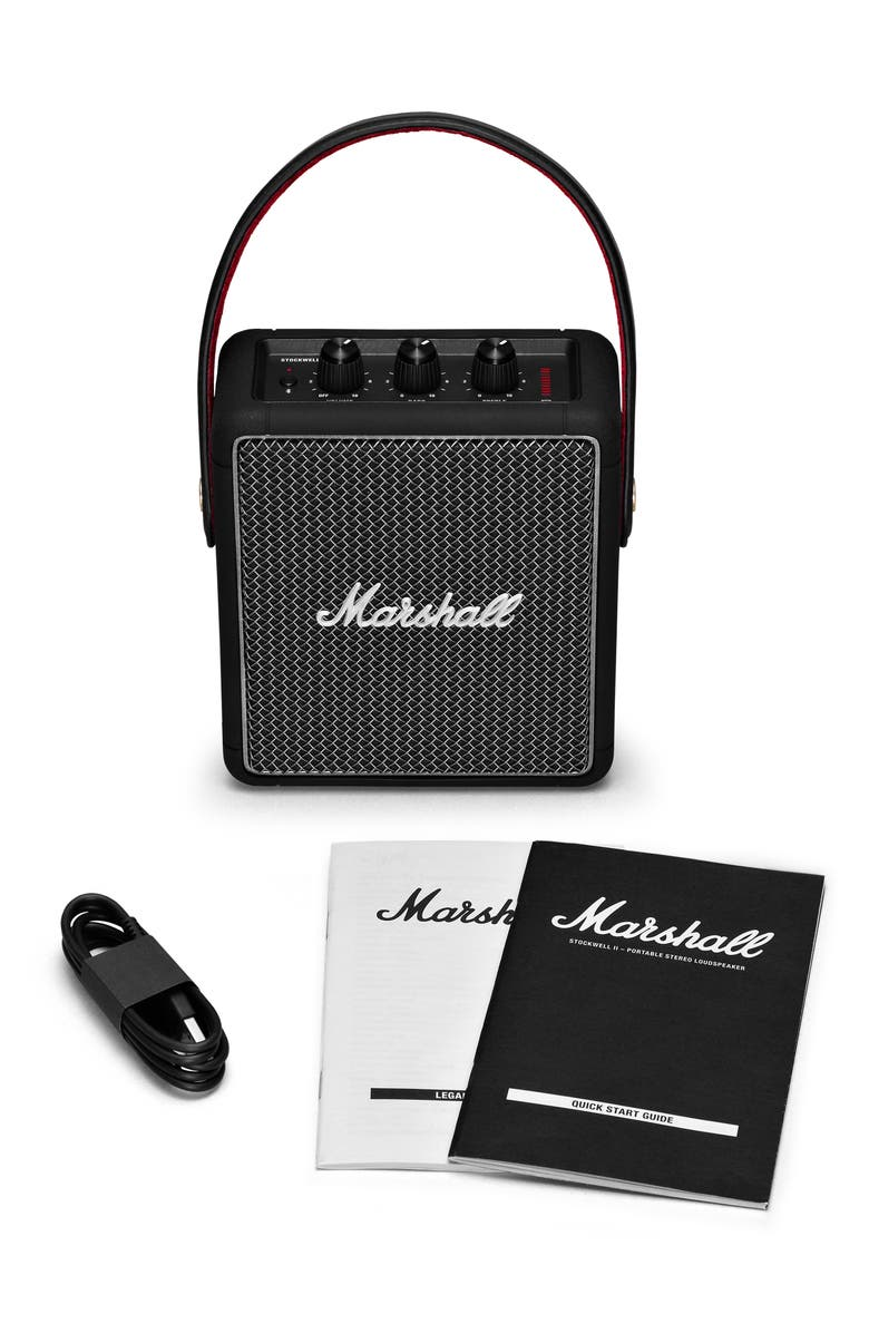 MARSHALL Stockwell II Portable Bluetooth<sup>®</sup> Speaker, Main, color, BLACK