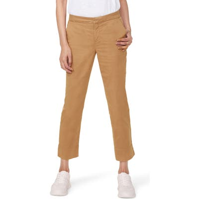 Nydj Relaxed Crop Chino Pants, Brown