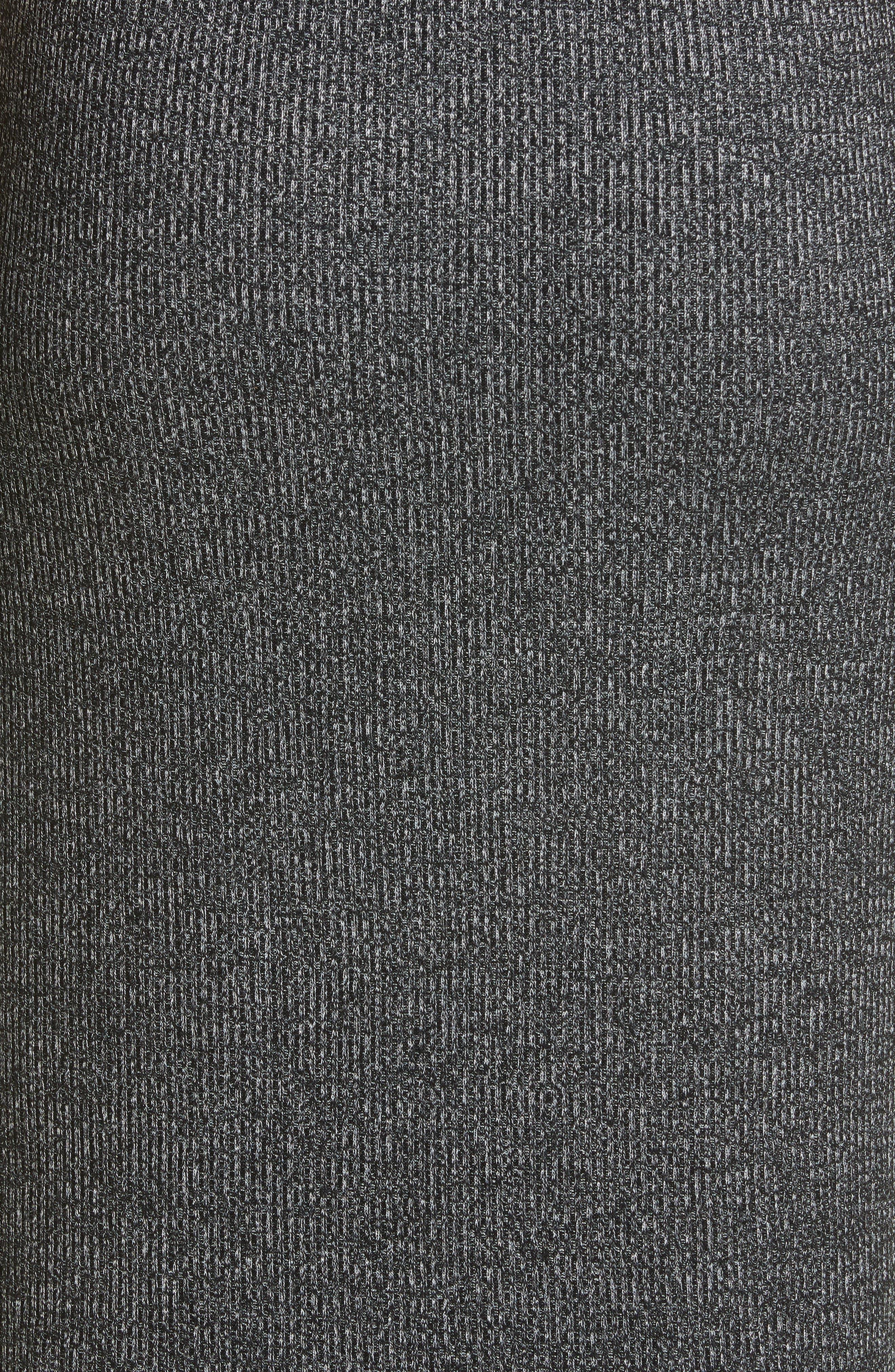 ,                             Clara Torqued Midi Tank Dress,                             Alternate thumbnail 6, color,                             BLACK HEATHER