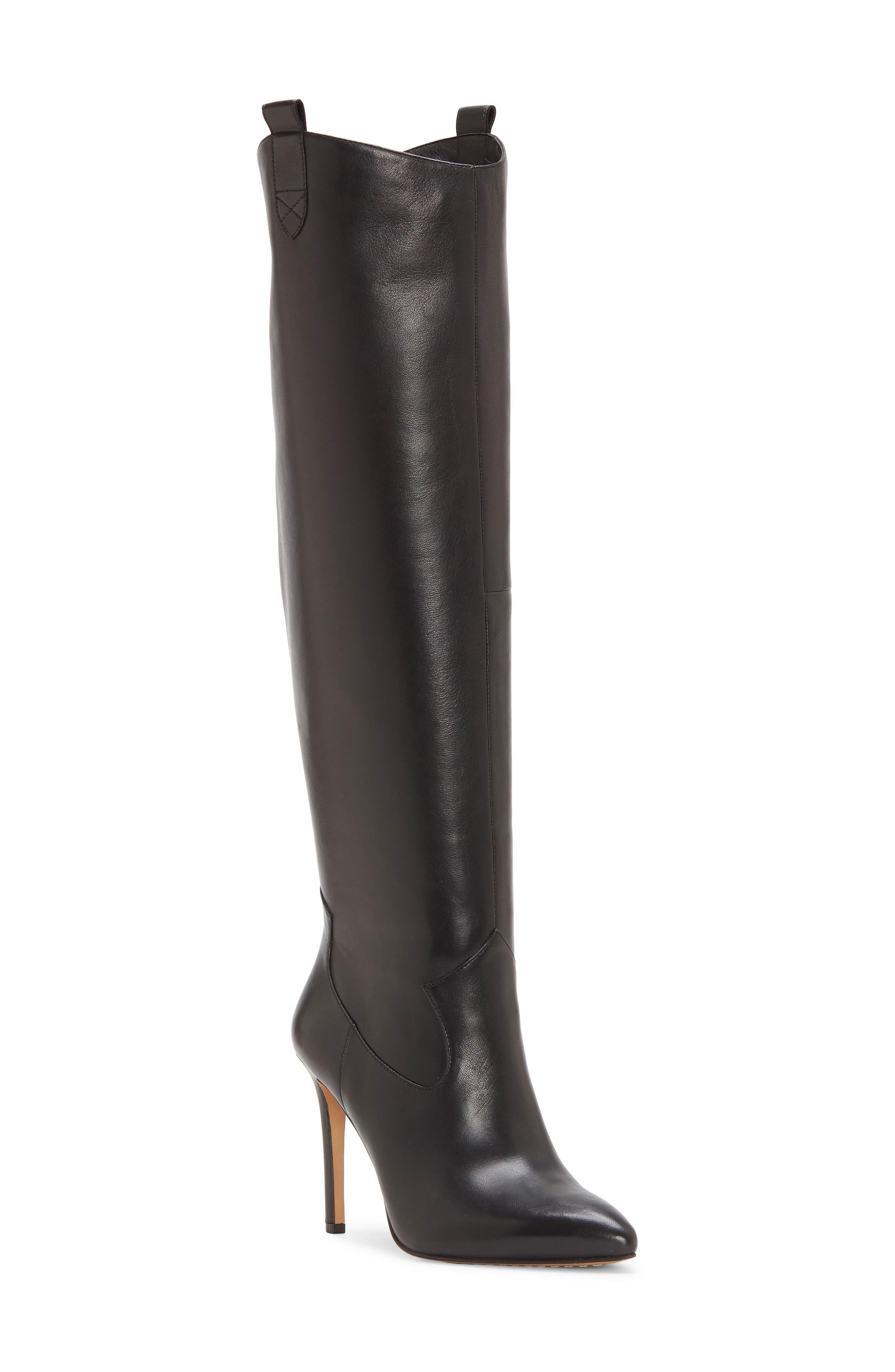 Kervana Embossed Knee High Leather Boot