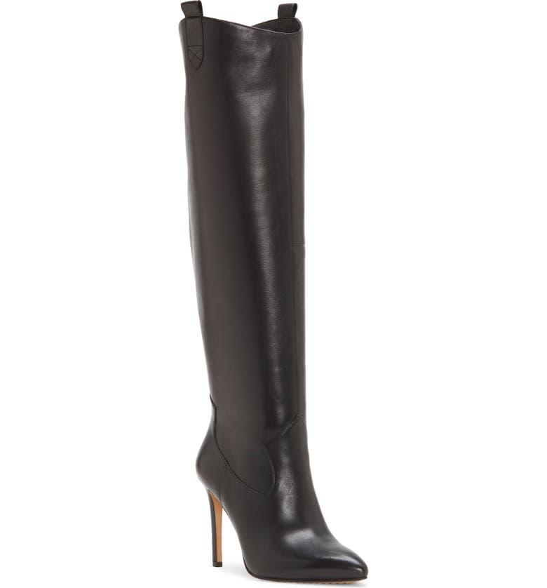 VINCE CAMUTO Kervana Croc Embossed Knee High Boot, Main, color, 001