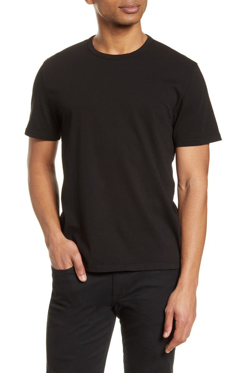 VINCE Solid T-Shirt, Main, color, TRUE BLACK