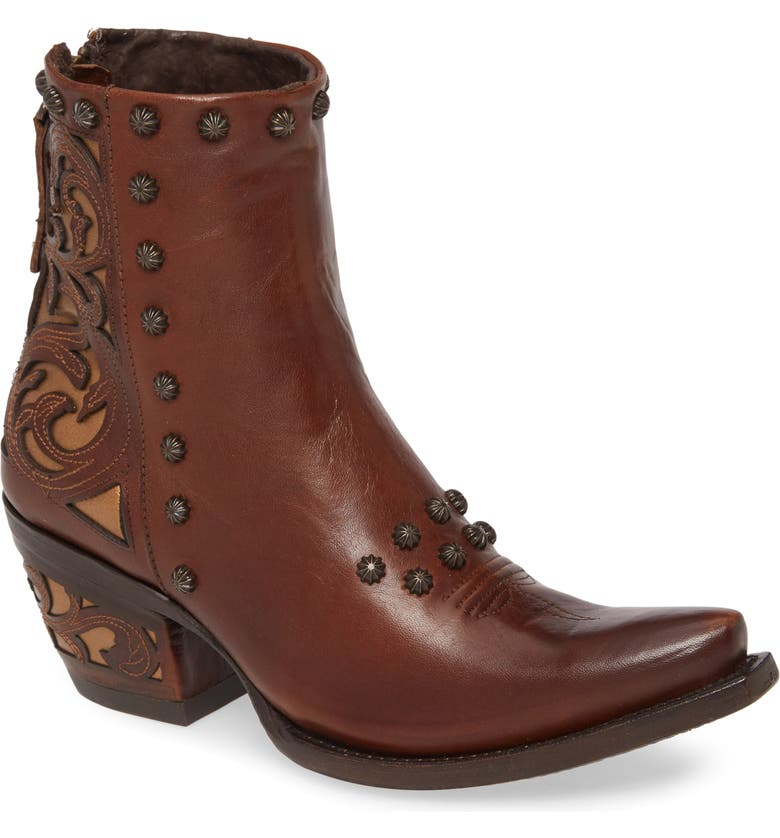 ARIAT Aria Diva Studded Western Boot, Main, color, WARM COGNAC