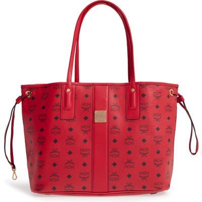 Mcm Medium Liz Reversible Shopper - Red