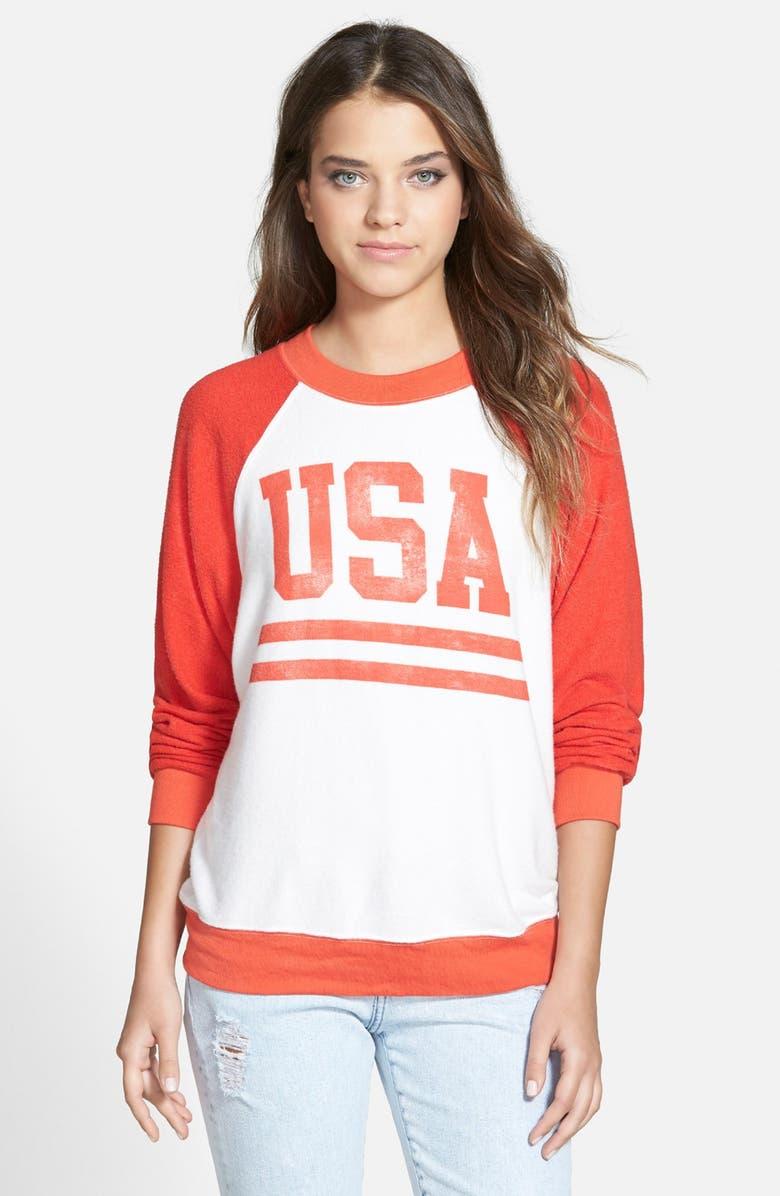 WILDFOX 'USA' Graphic Sweatshirt, Main, color, 600