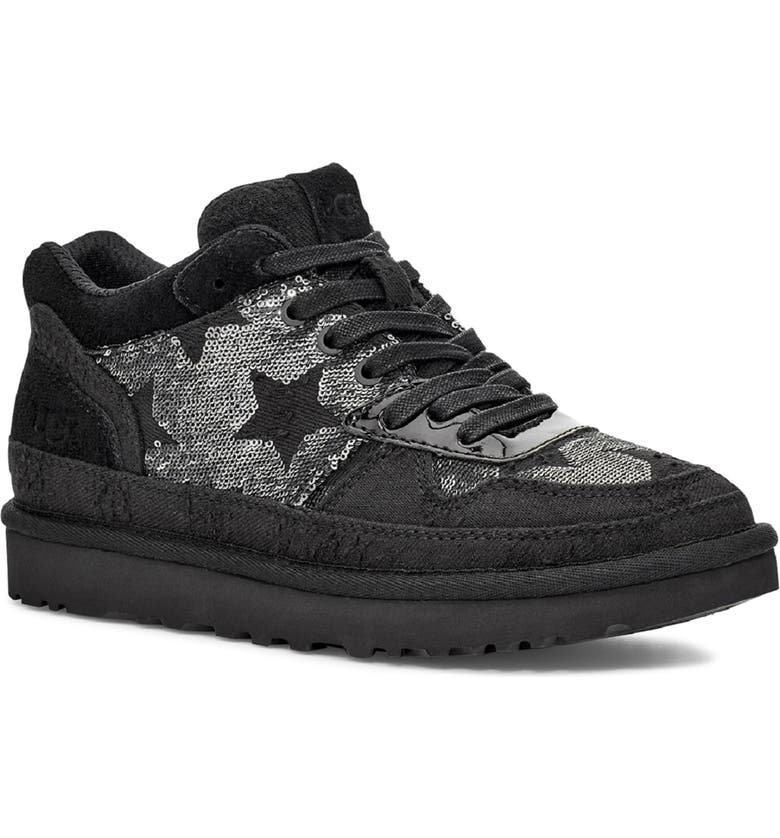 UGG<SUP>®</SUP> Highland Sequin Sneaker, Main, color, BLACK SEQUINS STARS