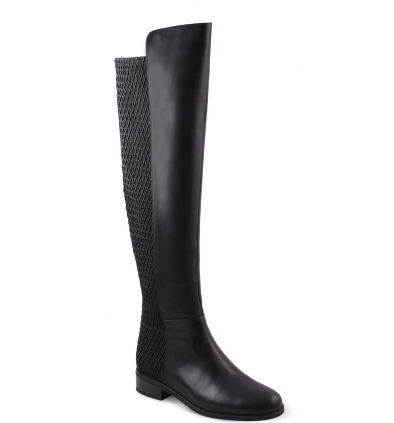 AQUADIVA Misty Water Resistant Boot, Main, color, BLACK LEATHER