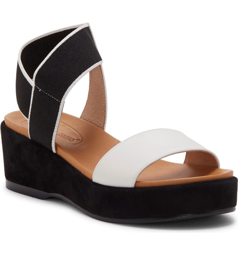 CC CORSO COMO<SUP>®</SUP> Wendolyn Platform Sandal, Main, color, WHITE/ BLACK LEATHER