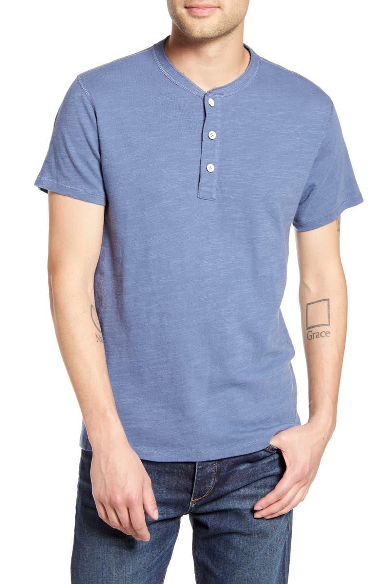 RAG & BONE Slim Fit Henley, Main, color, SMOKE BLUE