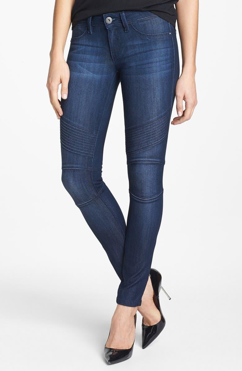 DL1961 'Hazel' Seamed Moto Skinny Jeans, Main, color, 435
