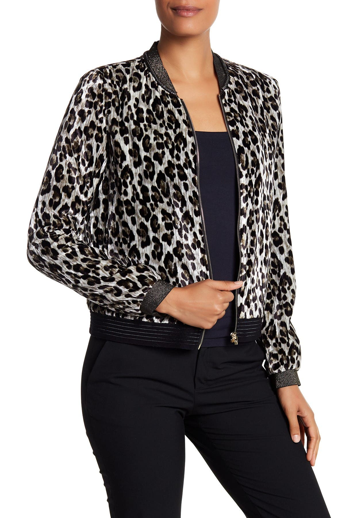 T Tahari Womens Fatima Velvet Floral Print Blazer Bomber Jacket Coat BHFO 0967