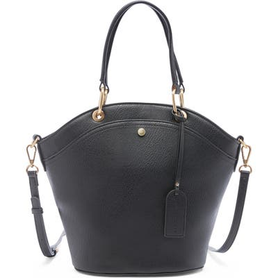 Sole Society Weekend Faux Leather Tote - Black