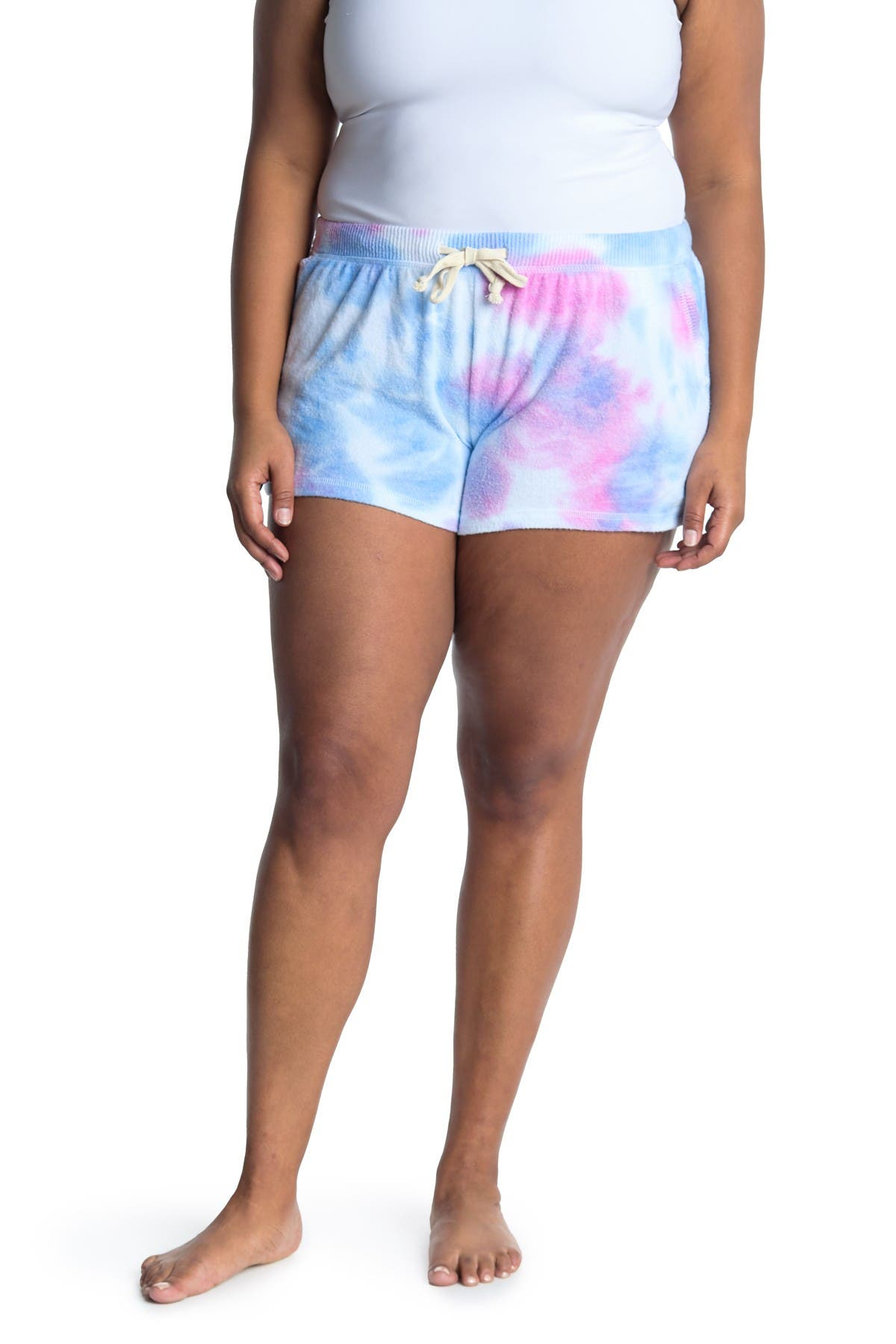 Theo and Spence Bubblegum Tie-Dye Lounge Shorts