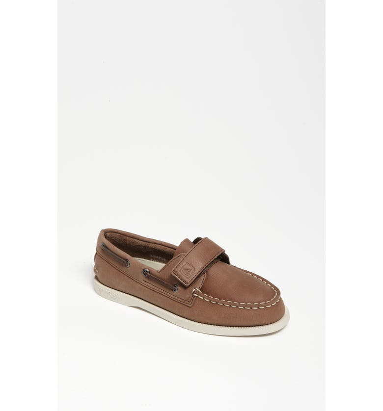 SPERRY KIDS Sperry Top-Sider<sup>®</sup> Kids 'Authentic Original' Boat Shoe, Main, color, BROWN
