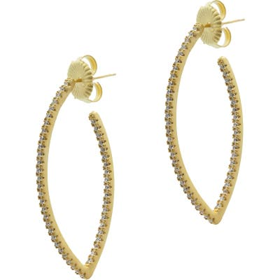 Freida Rothman Signature Pave Point Hoop Earrings