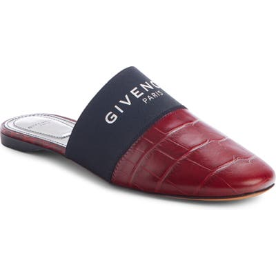 Givenchy Bedford Logo Mule - Red
