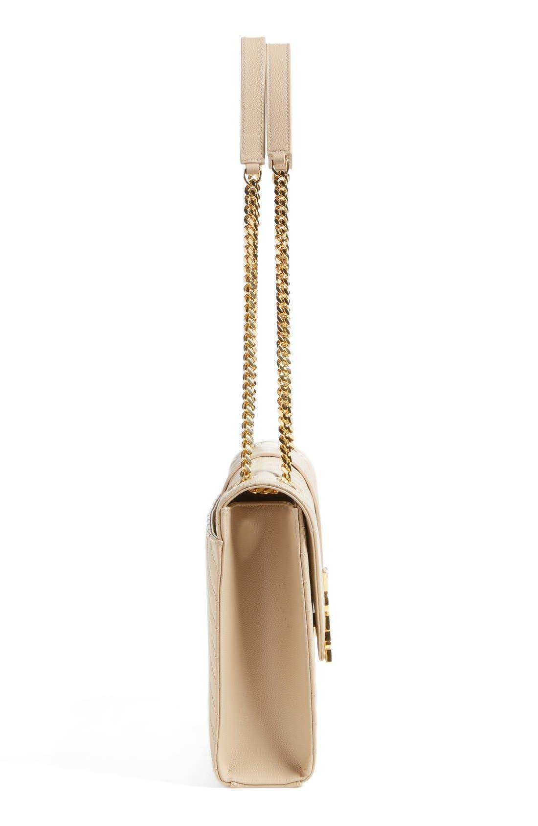 ,                             'Large Monogram' Grained Leather Shoulder Bag,                             Alternate thumbnail 5, color,                             251