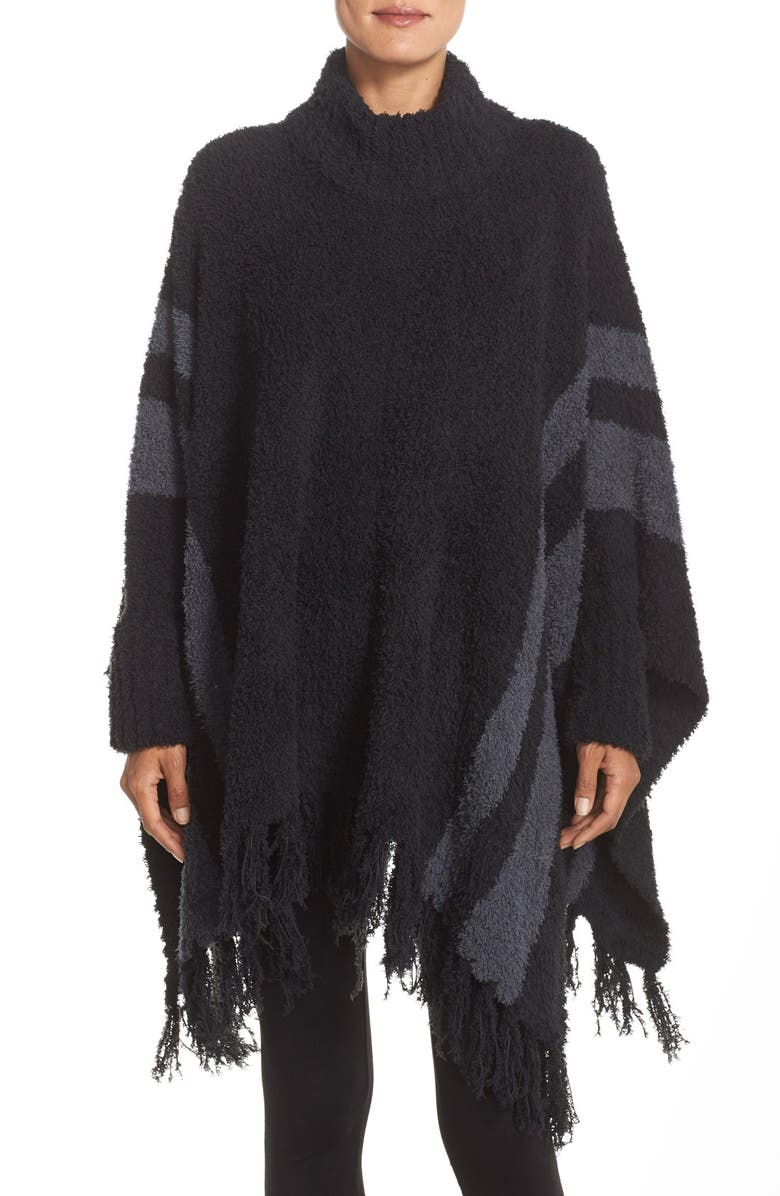 BAREFOOT DREAMS<SUP>®</SUP> 'Cozy Chic<sup>®</sup> Beach' Fringe Lounge Poncho, Main, color, 001