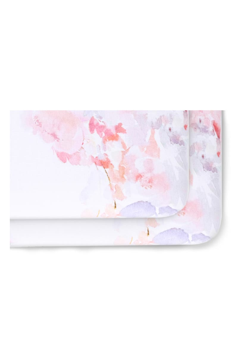 OILO 2-Pack Fitted Primrose Print Jersey Crib Sheets, Main, color, BLUSH