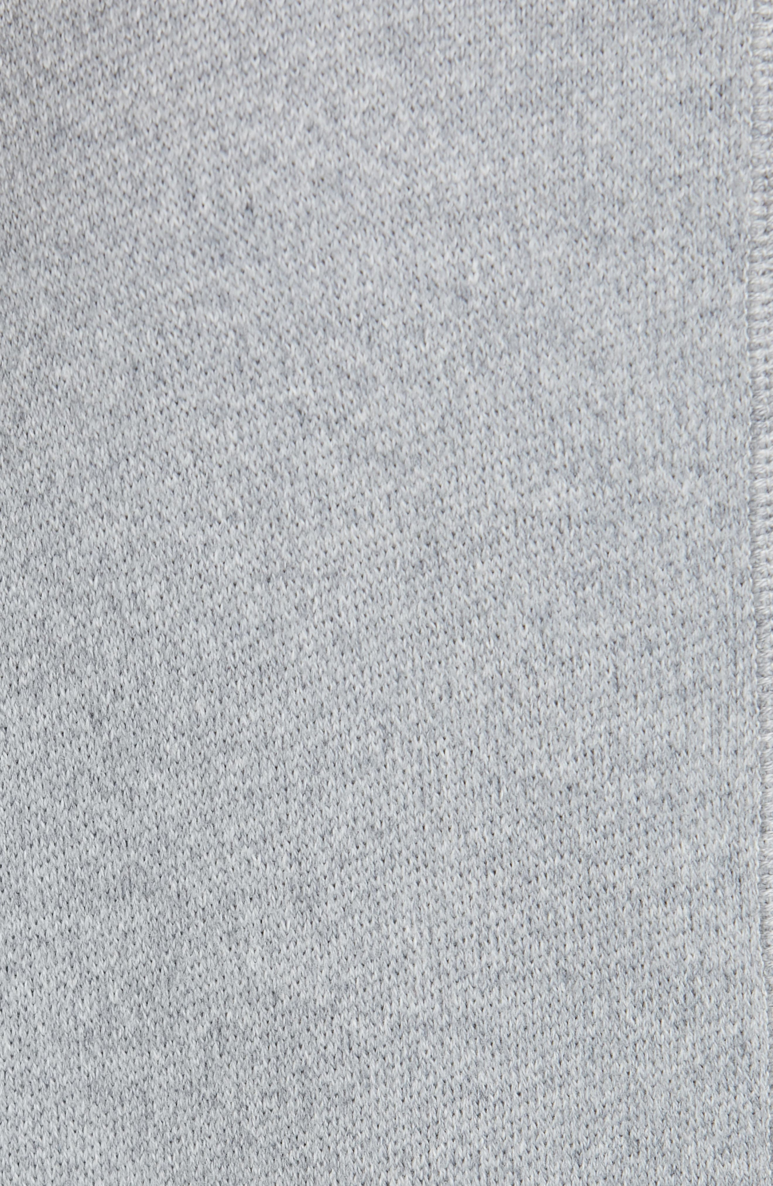 ,                             Cotton Terry Shift Dress,                             Alternate thumbnail 6, color,                             H STEEL