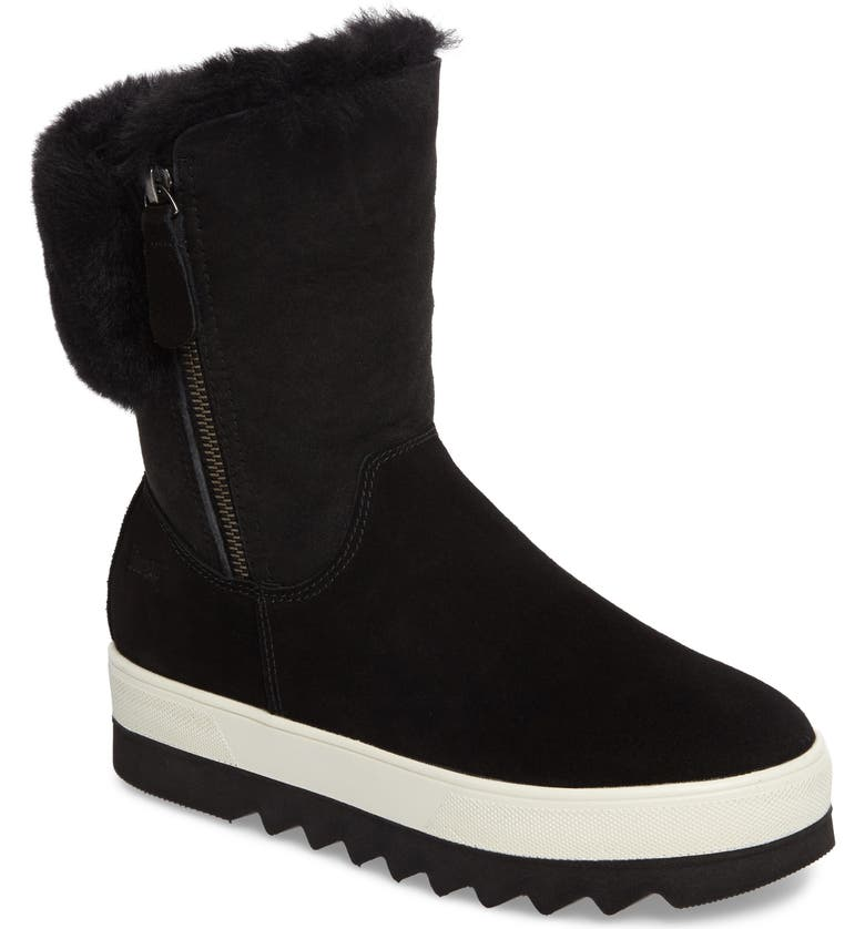 COUGAR Vera Genuine Shearling Waterproof Boot, Main, color, BLACK